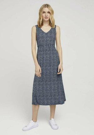 Sukienka letnia - blue minimal design vertical