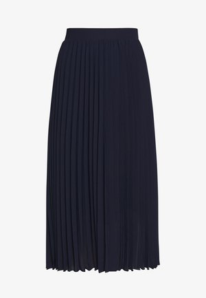 PLEAT MIDI SKIRT - A-line skirt - navy