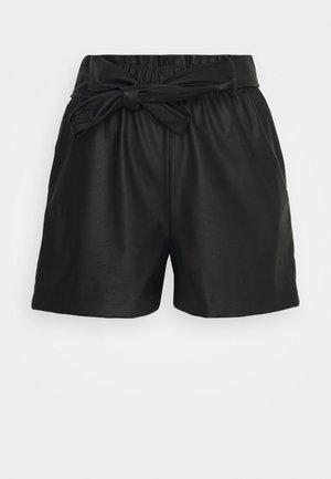 GABY PU SHORTS - Shorts - black