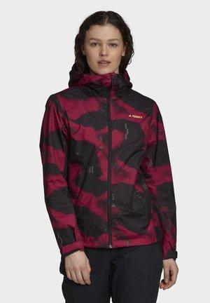 CAMOUFLAGE RAIN.RDY - Waterproof jacket - black