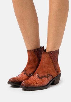DEBORA - Classic ankle boots - cognac