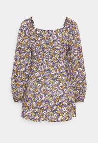 Missguided Petite - MILKMAID SKATER DRESS  - Denní šaty - purple - 6