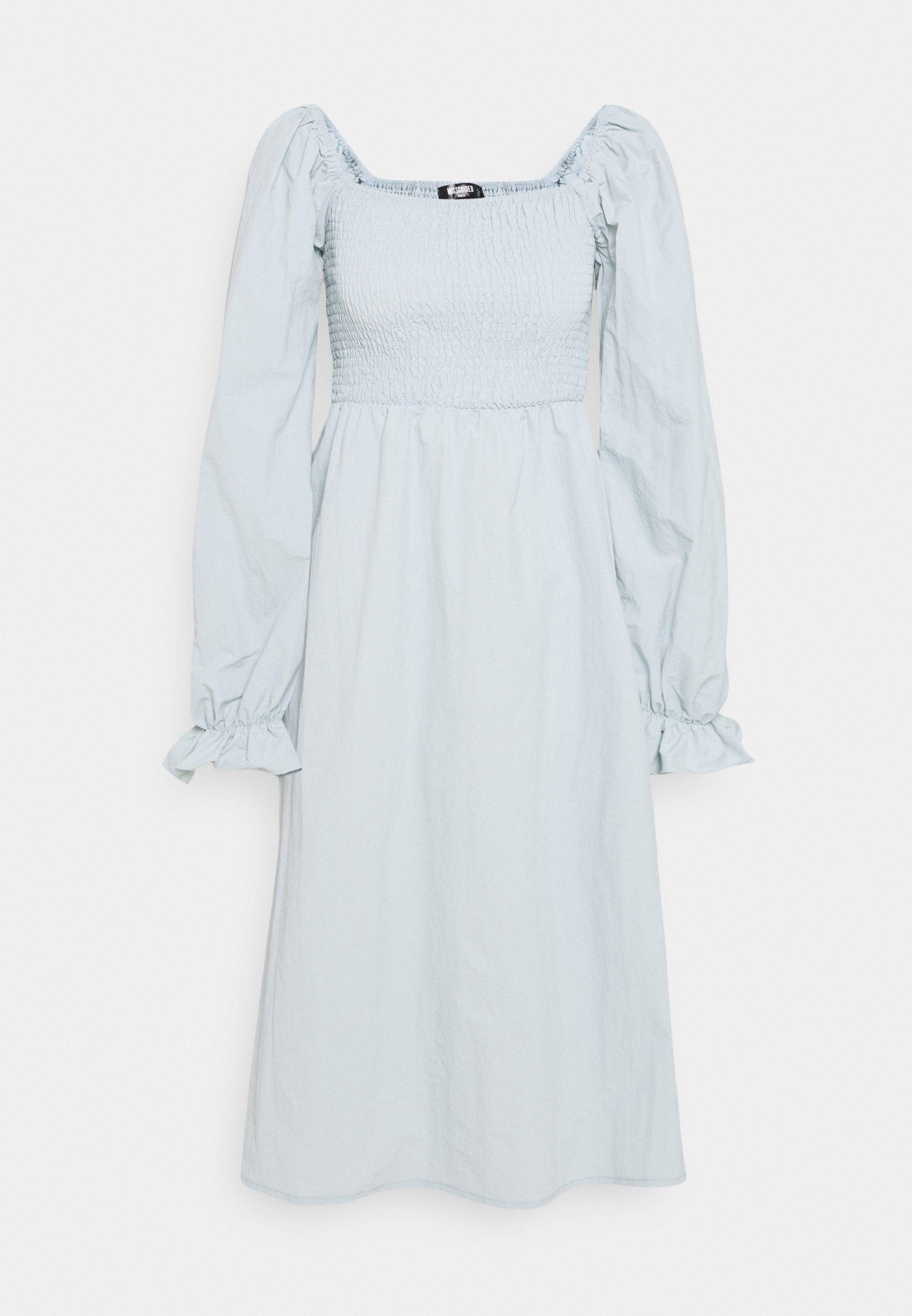Women SHIRRED MILKMAID PUFF SLEEVE DRESS - Day dress