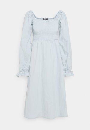 SHIRRED MILKMAID PUFF SLEEVE DRESS - Day dress - baby blue