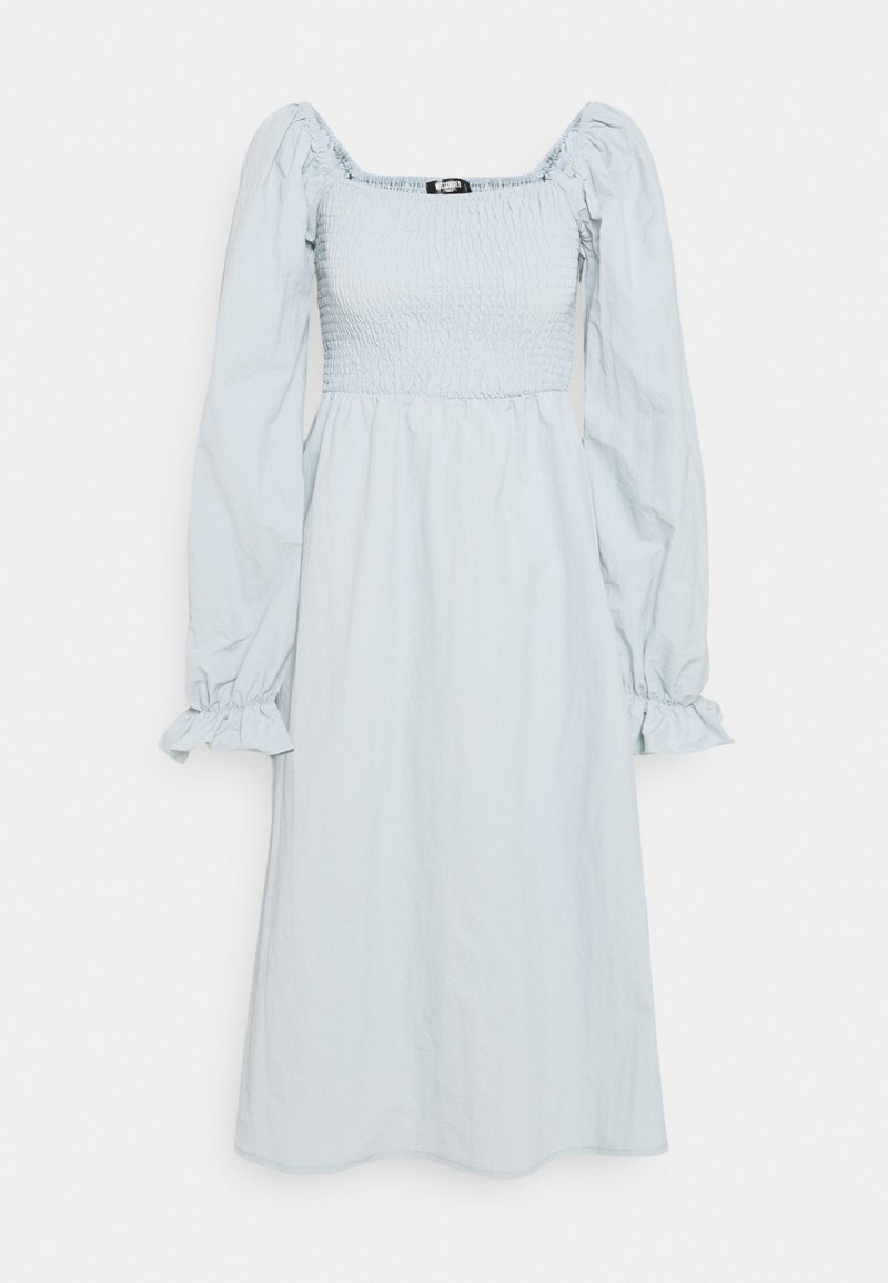 Missguided Tall - SHIRRED MILKMAID PUFF SLEEVE DRESS - Day dress - baby blue