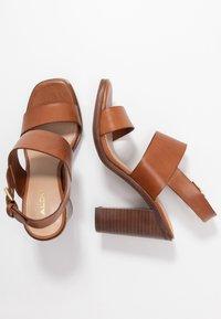 ALDO - FIELIA - High heeled sandals - cognac - 3