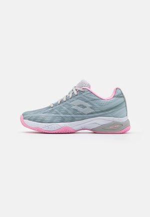 MIRAGE 300 CLY  - Clay court tennis shoes - silver metal/all white/pink