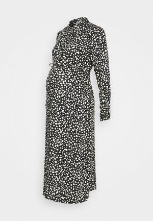 PEBBLE DRESS - Abito a camicia - black