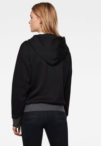 G-Star - PREMIUM CORE HOODED ZIP THRU LONG SLEEVE - Mikina na zip - dk black - 1