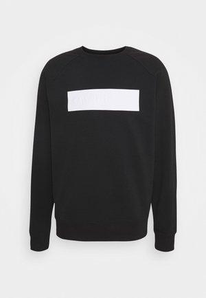 BLOCKING LOGO CREW NECK - Sweatshirt - black