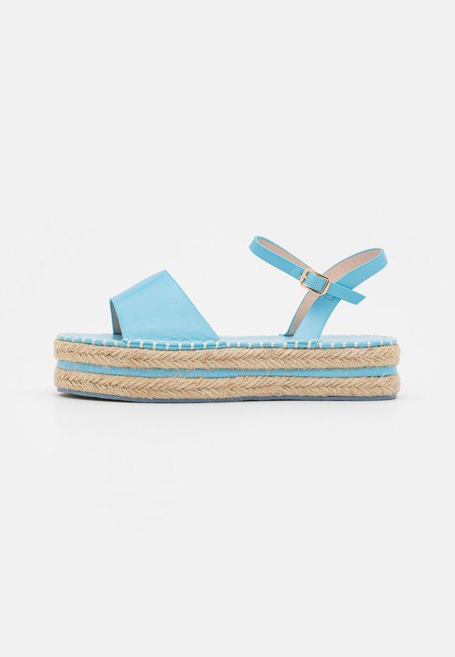 MONROE - Sandalen met plateauzool - blue