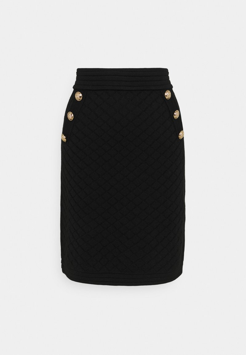 Esqualo - SKIRT - Pencil skirt - black