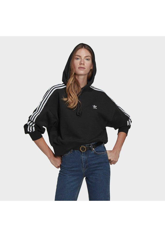 SHORT HOODIE - Bluza z kapturem - black