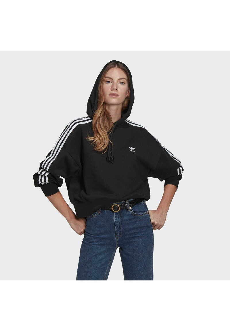 adidas Originals - SHORT HOODIE - Hoodie - black