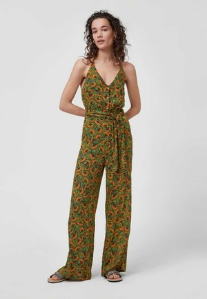 Jumpsuit - yellow with green