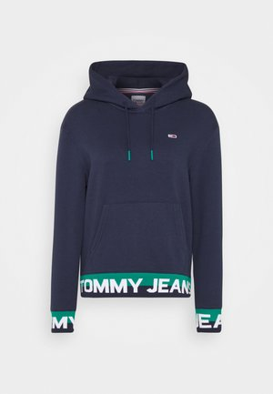 BRANDED HEM HOOD - Hoodie - twilight navy