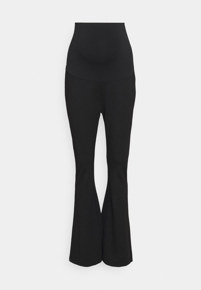 PANTS FLARE - Trousers - black