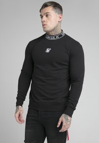 SIKSILK - ESSENTIAL HIGH NECK - Sweatshirt - black - 4