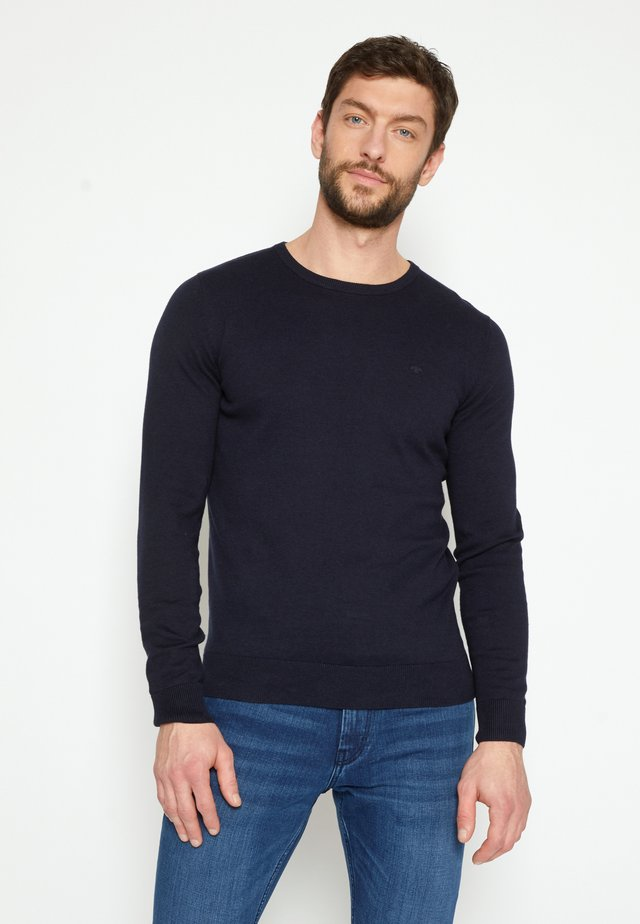 BASIC CREW NECK - Jumper - navy melange