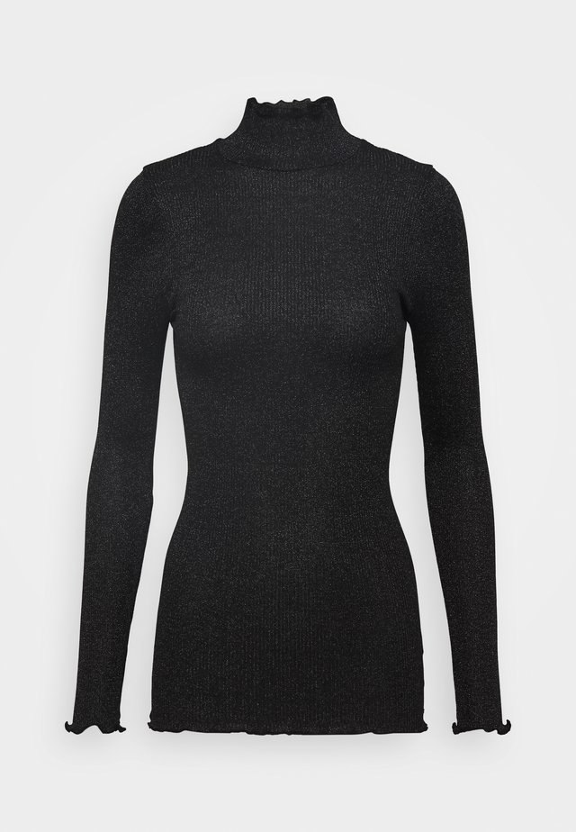 TURTLENECK REGULAR - Jumper - black  shine