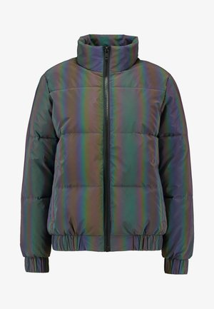 LADIES IRIDESCENT REFLECTIV PUFFER JACKET - Winter jacket - rainbow/darksilver