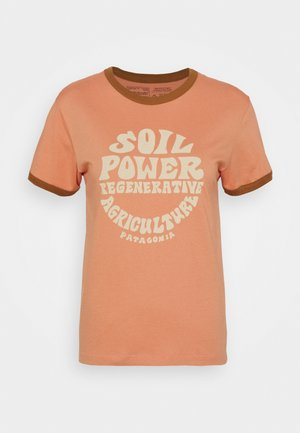 ROAD TO REGENERATIVE RINGER TEE - T-shirt imprimé - mellow melon
