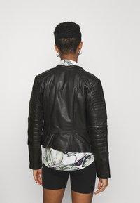 Diesel - L-IGE-NEW-A - Leather jacket - black - 2