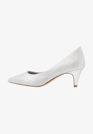 COURT SHOE - Tacones - silver glam