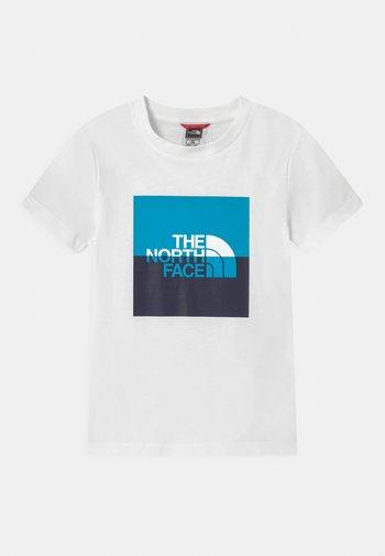 YOUTH HALF DOME UNISEX - Print T-shirt - white/meridian blue/aviator navy