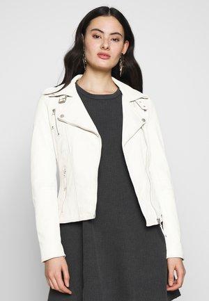 BIKER PRINCESS - Leren jas - white