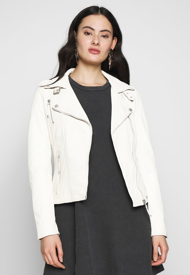 BIKER PRINCESS - Leather jacket - white