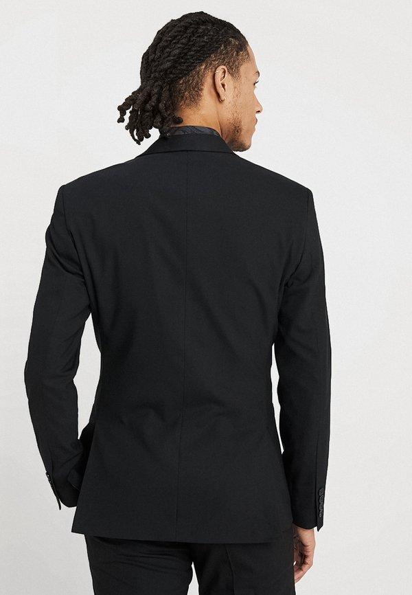 Isaac Dewhirst BASIC PLAIN SUIT SLIM FIT - Garnitur - black/czarny Odzież Męska SNHH