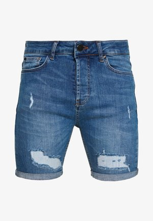 Jeansshorts - mid wash blue