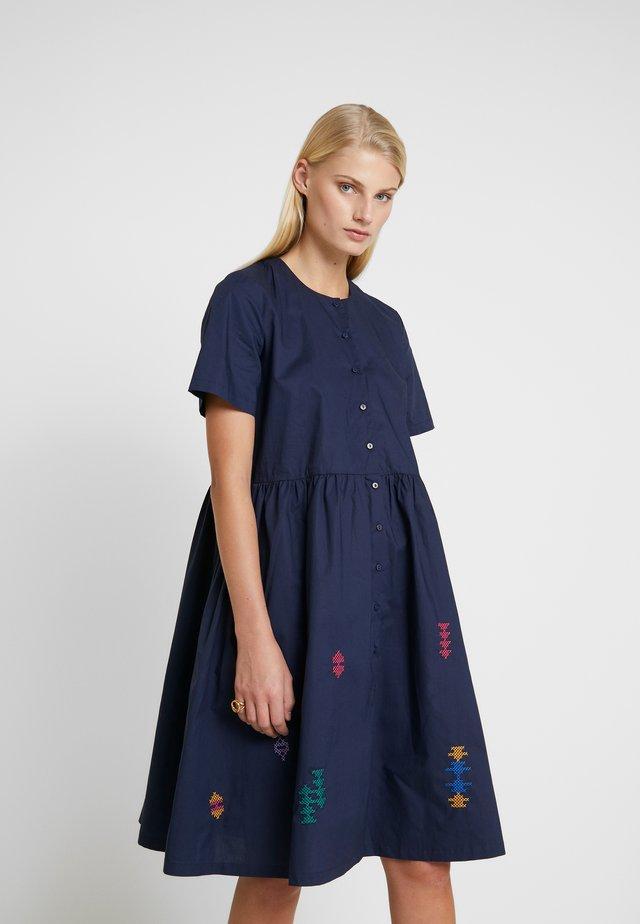 SELMA DRESS - Shirt dress - navy