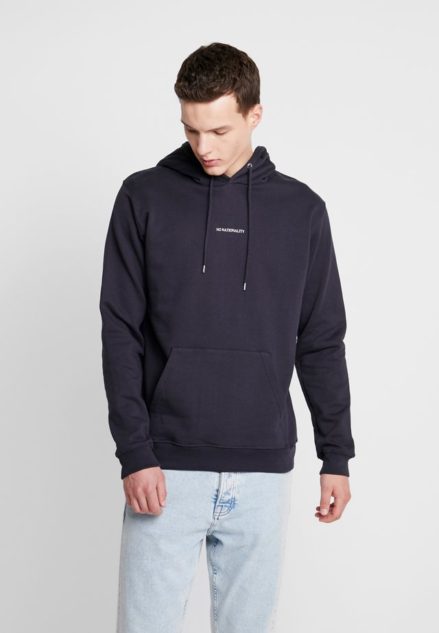 BARROW PRINTED HOODIE - Sweat à capuche - navy blue