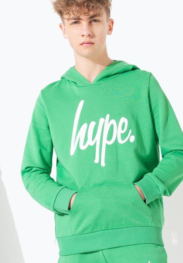 GREEN HYPE SCRIPT - Hoodie - green
