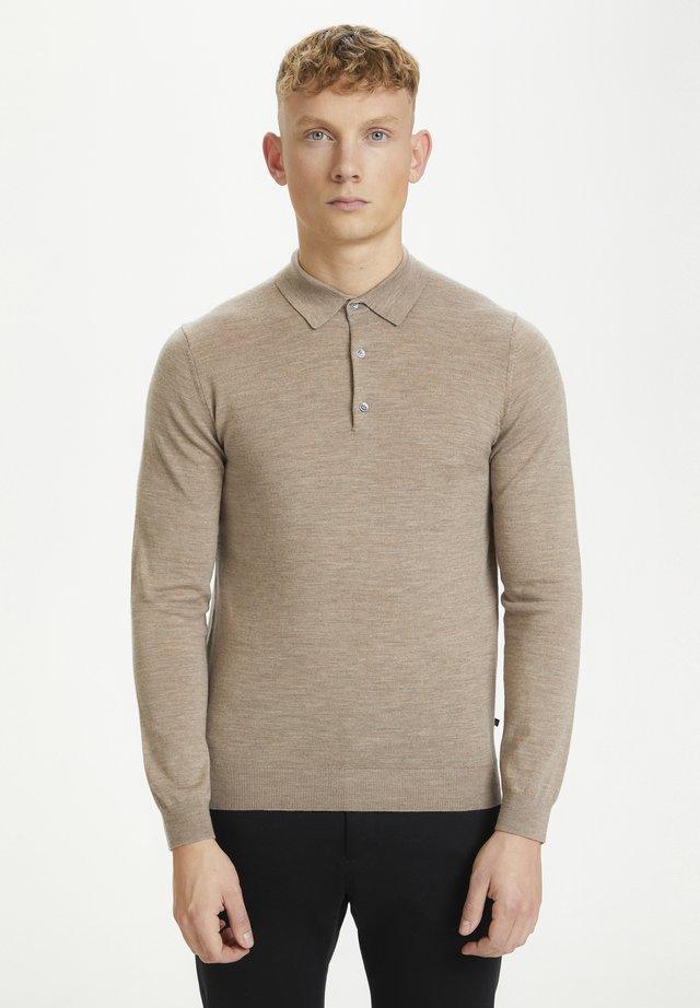 Pullover - khaki melange