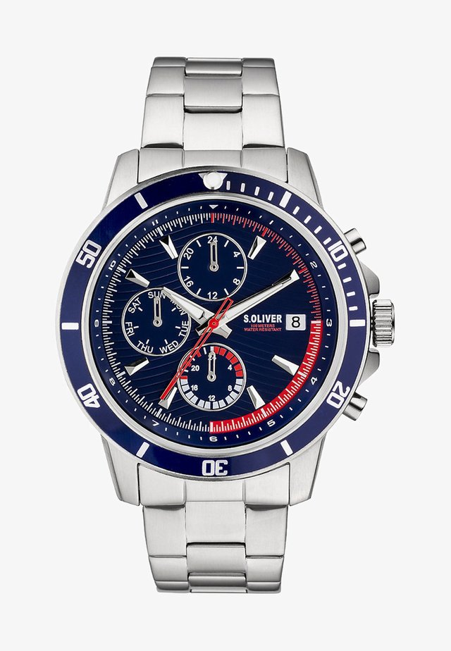 Chronograph watch - silver/blue