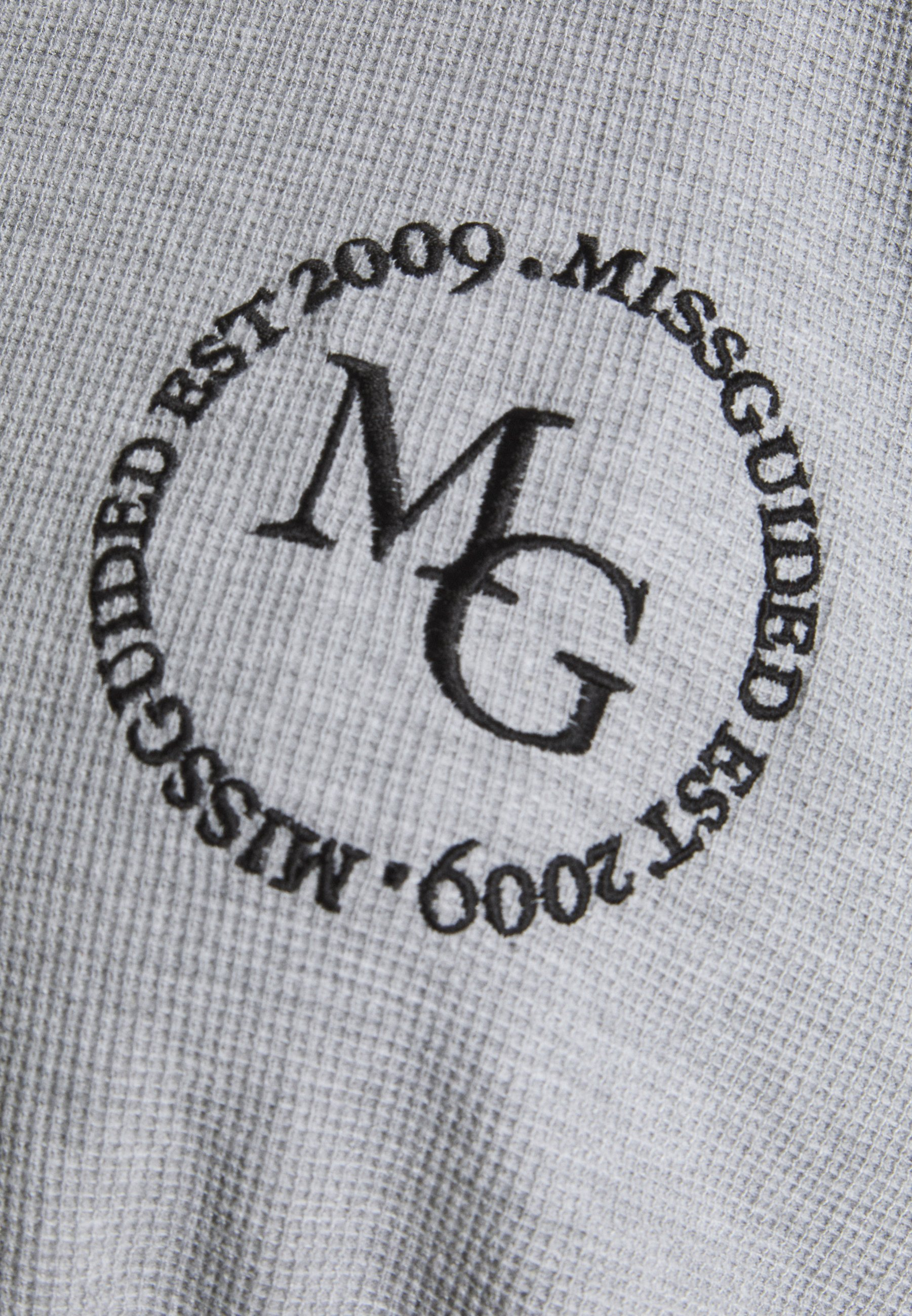 Women CROPPED HOODIE WAFFLE MISSGUIDED - Sweatshirt