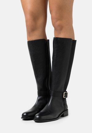 OPERA QUILTED LONG BOOT - Saappaat - black