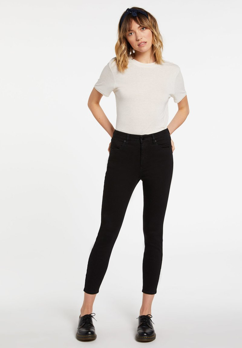 Volcom - LIBERATOR HIGH RISE - Jeans Skinny Fit - premium_wash_black