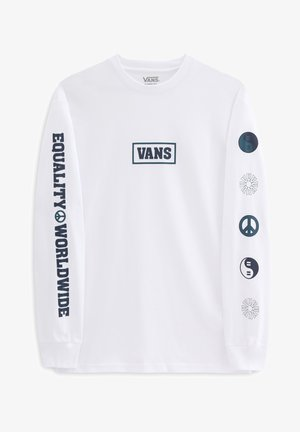 MN TAKE A STAND LS - Long sleeved top - white