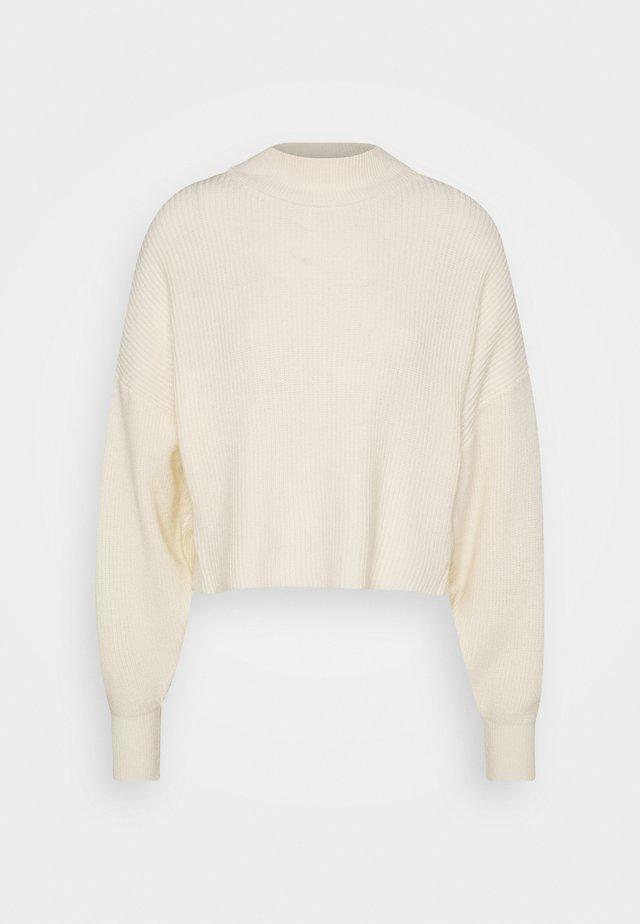 OPEN BACK - Strickpullover - off white