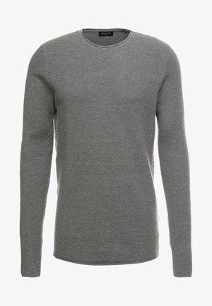 SLHROCKY CREW NECK - Strickpullover - medium grey melange