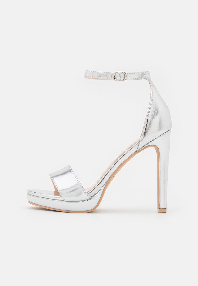 CIMONA - High heeled sandals - silver