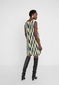 M Missoni - ABITO SENZA MANICHE - Day dress - yellow/blue - 2