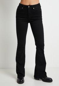 Pepe Jeans - DUA LIPA X PEPE JEANS - Flared Jeans - black - 0