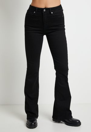 DUA LIPA X PEPE JEANS - Jeans a zampa - black