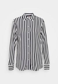 Tommy Hilfiger - REGULAR BLOUSE - Button-down blouse - banker/desert sky - 0
