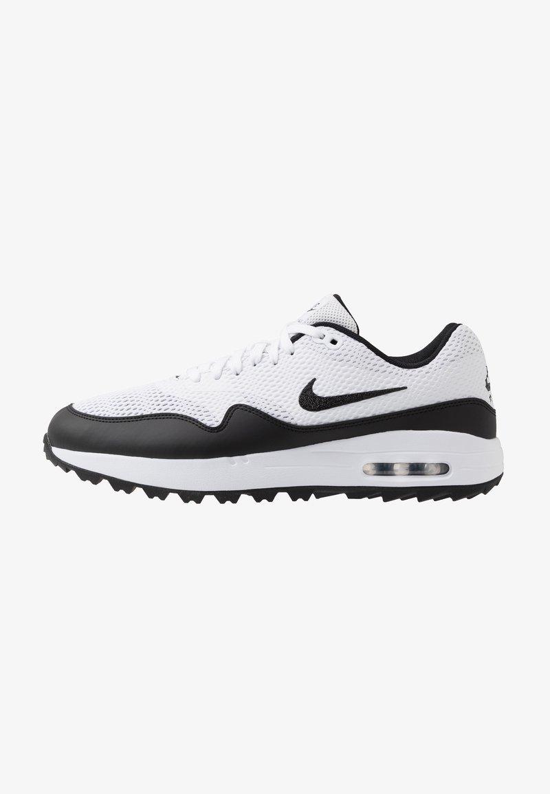 Nike Golf - AIR MAX 1 G - Obuwie do golfa - white/black